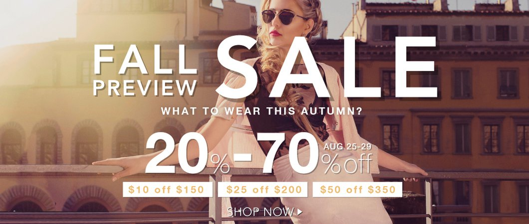 FALL PREVIEW SALE