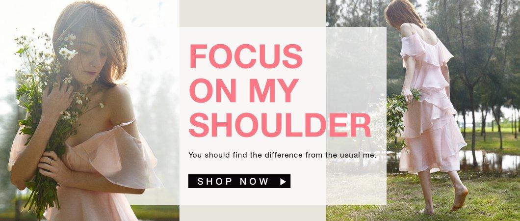Focus on my SHOULDER