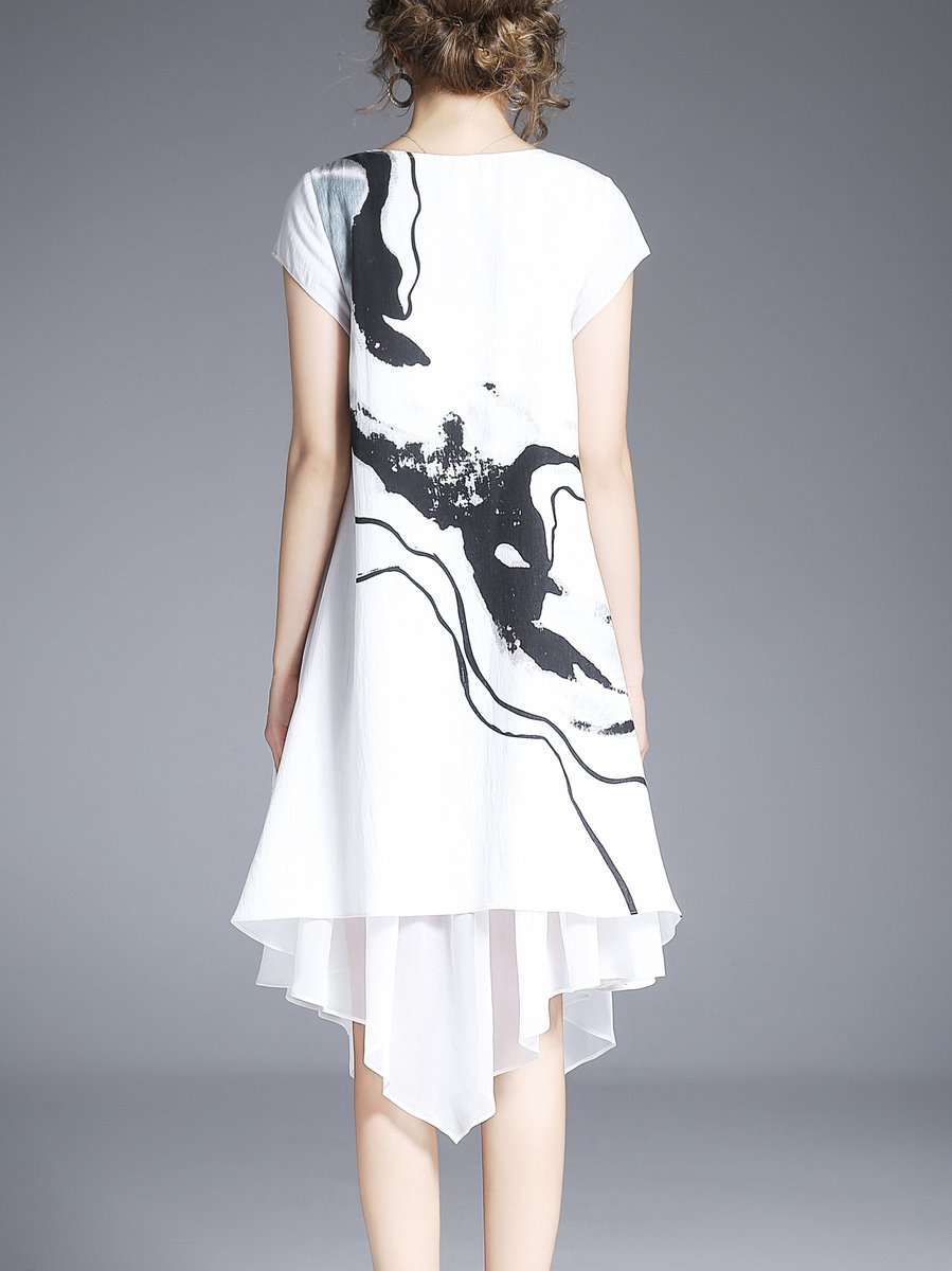 Stylewe And Just Fashion Now: Stylewe Linen Dress Asymmetrical Daytime Dress Short