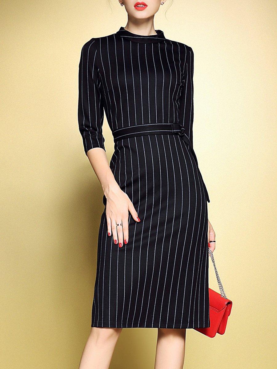 Stylewe And Just Fashion Now: Stylewe Plus Size Black Midi Dress Sheath Daytime Dress