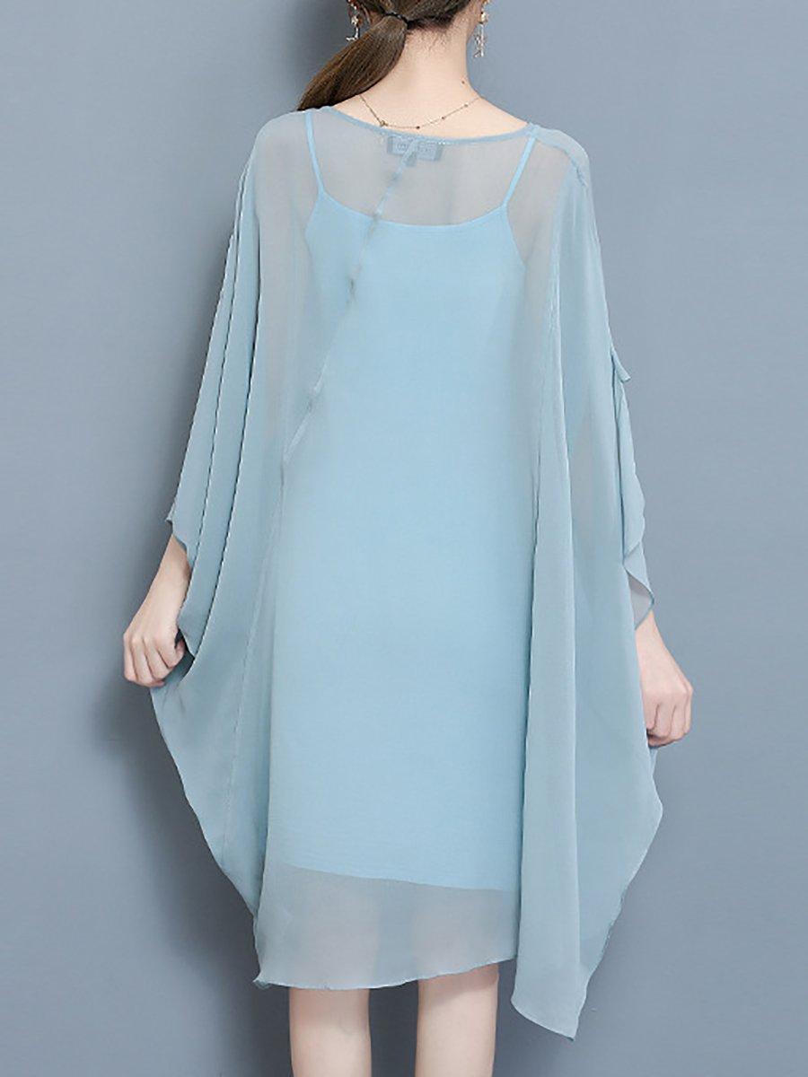 Stylewe And Just Fashion Now: Stylewe Plus Size Midi Dress Shift Daily Dress Batwing