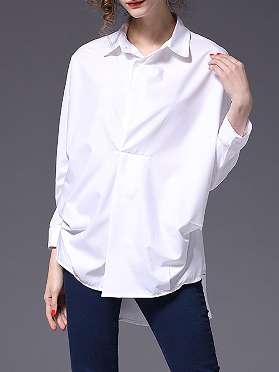 Long Sleeve White Blouse Plus Size