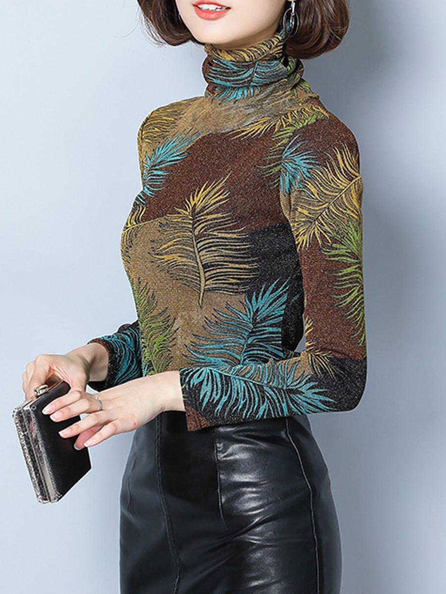 3ce2c418595ef Stylewe Long Sleeve Army Green Black Women Tops For Work Turtle Neck ...