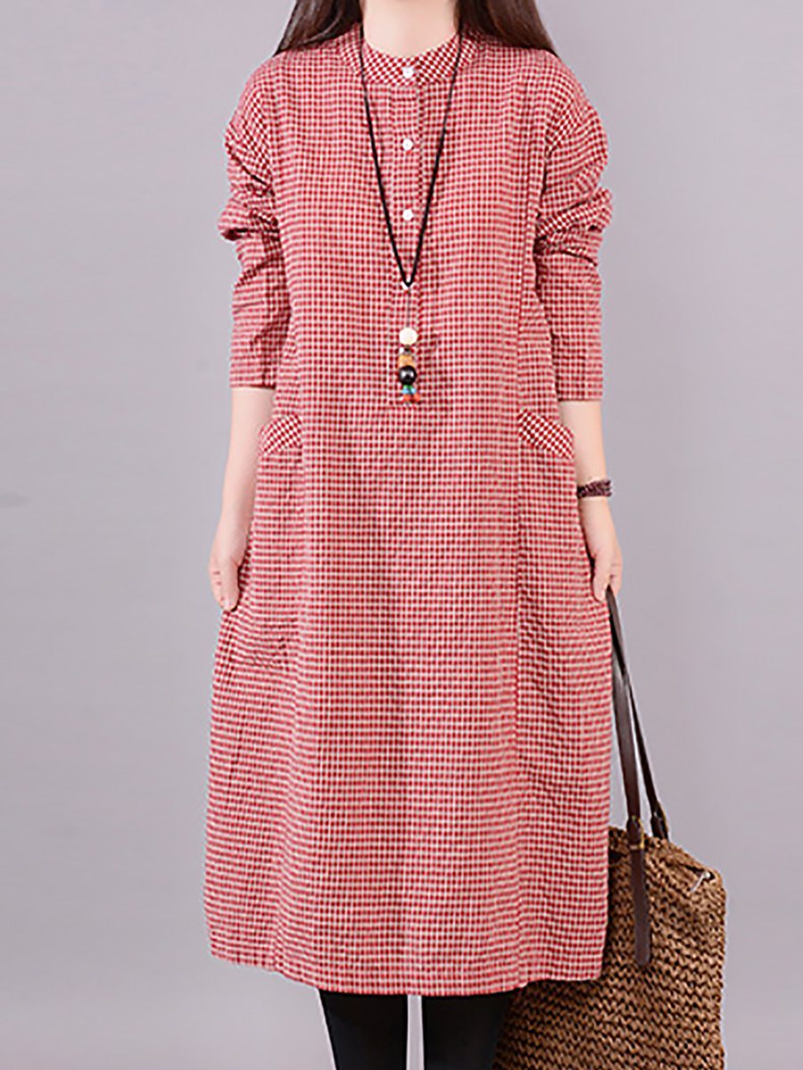 863d85a19 Long Sleeve Shift Dress With Pockets - raveitsafe