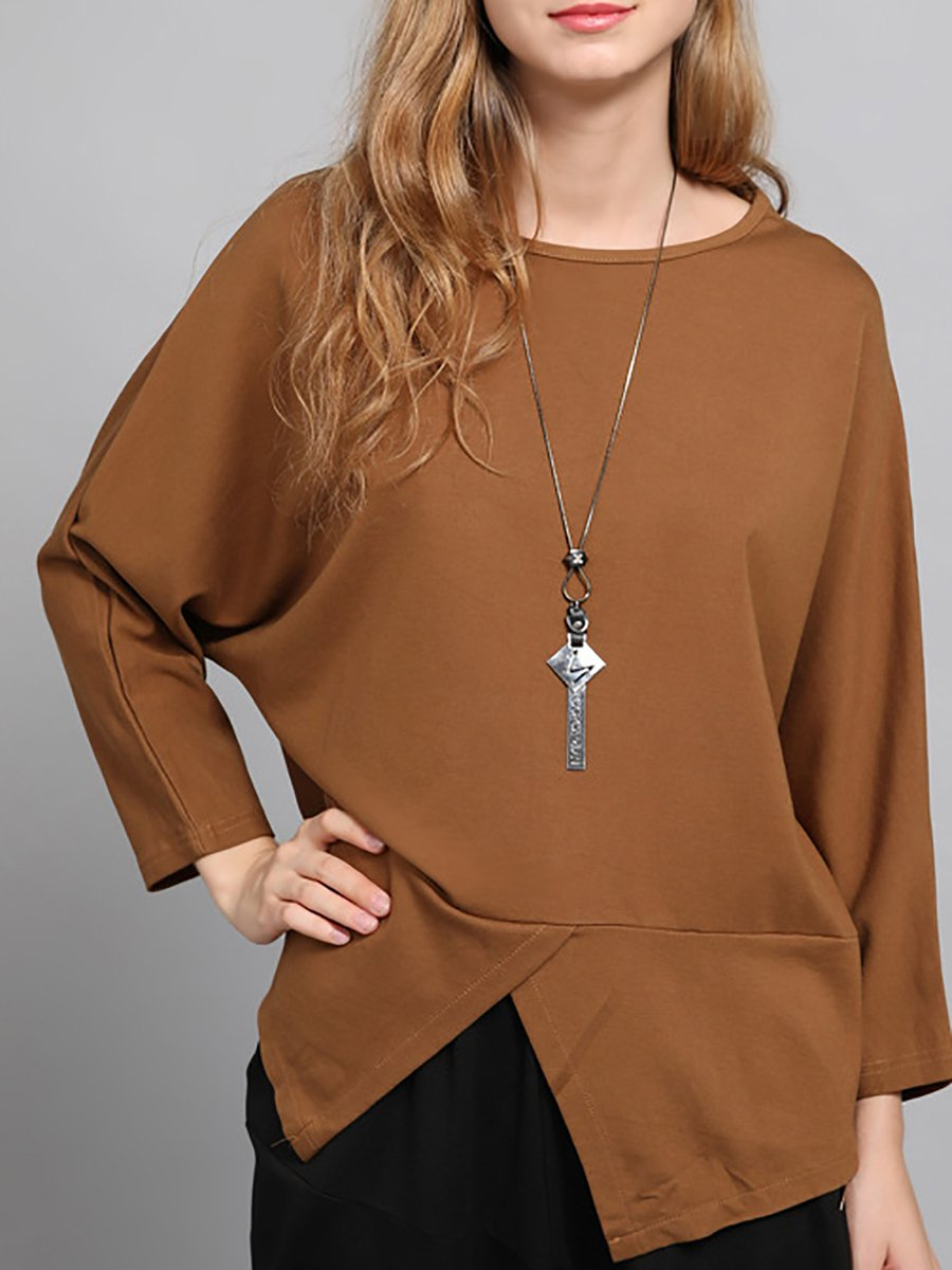 Dogs them Surplice Asymmetric Hem Plain Short Sleeve Maxi Dresses women cheap