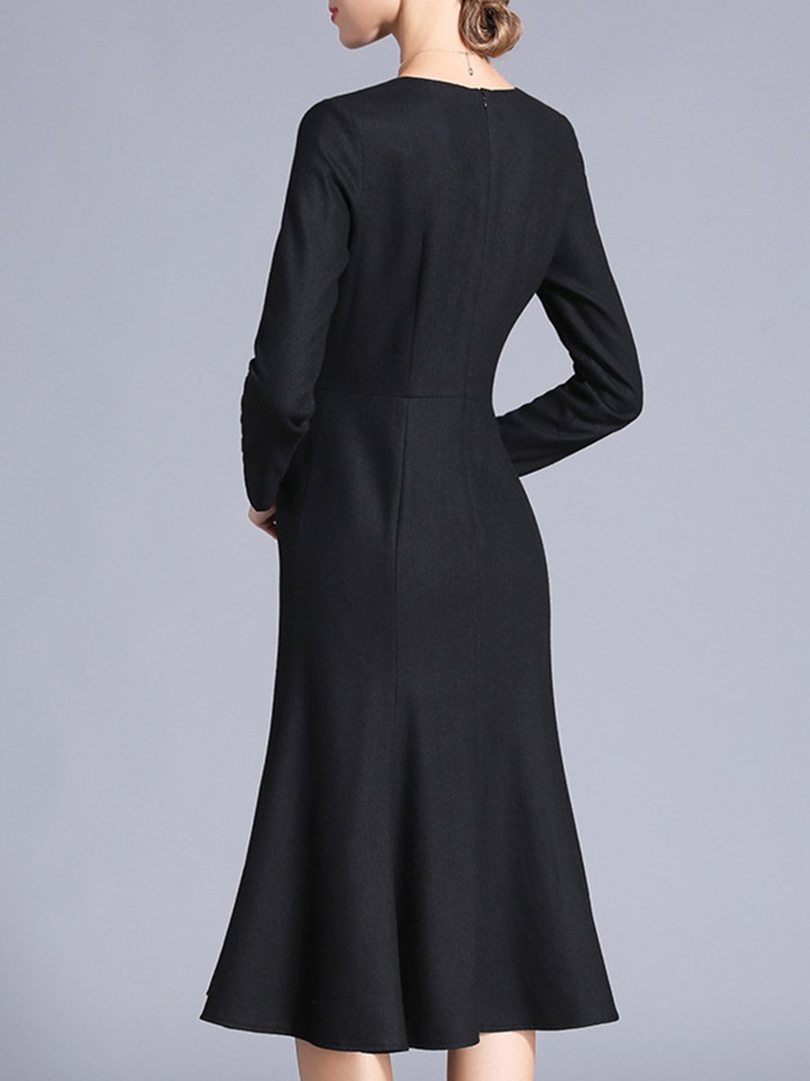 b0d63157418 LOOK BOOK. 44797. Quick Shop. 23488. Quick Shop. 23488. Quick Shop. 96215.  Quick Shop. Misslook Black Long Sleeve Solid Midi Dress