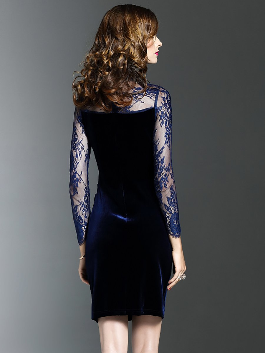 3b5697c53bd Stylewe Party Dresses Long Sleeve Formal Dresses Daytime Sheath ...