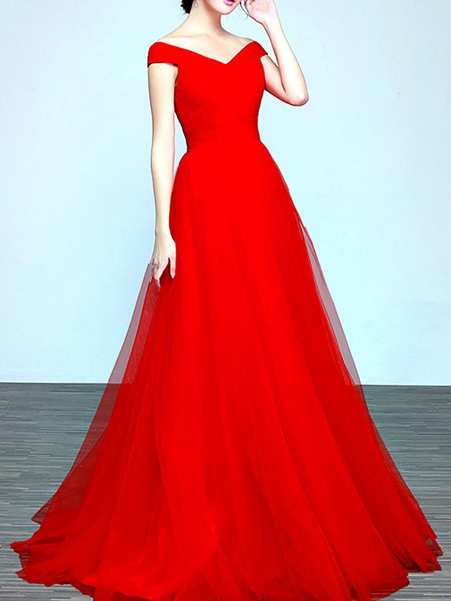 0d1045993fae Stylewe Summer Dresses Sundress Wedding A-Line Off Shoulder Paneled ...