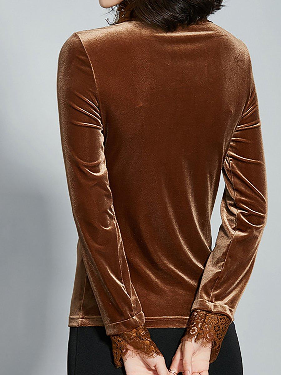 ef6755034bb4ff Stylewe Long Sleeve Khaki Dark Green Women Tops For Work Elegant ...