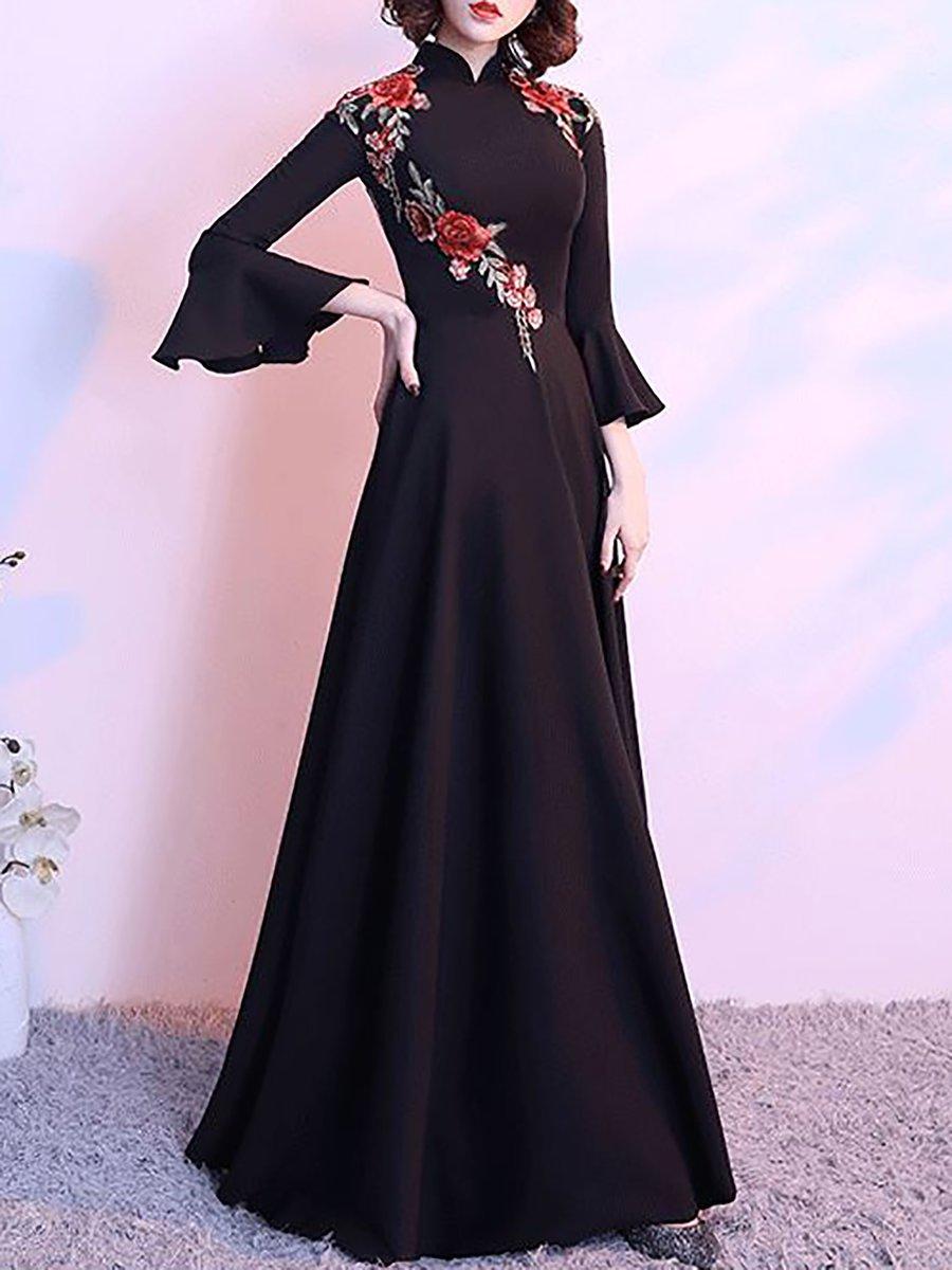ceab5edf9 Stylewe Formal Dresses Long Sleeve Vintage Dresses Party   Evening ...