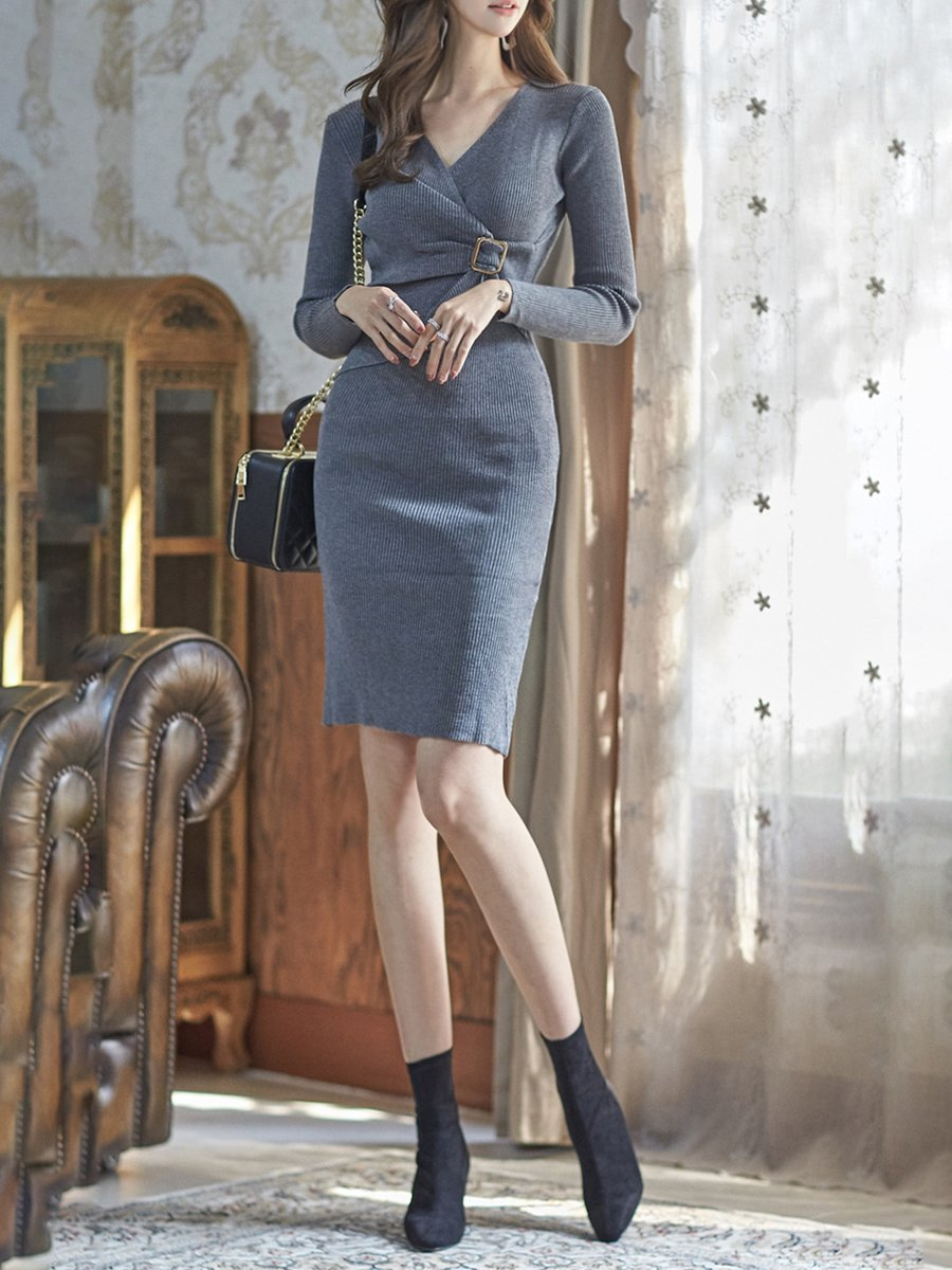 Bodycon Long Sleeve Sexy Sweater Dresses