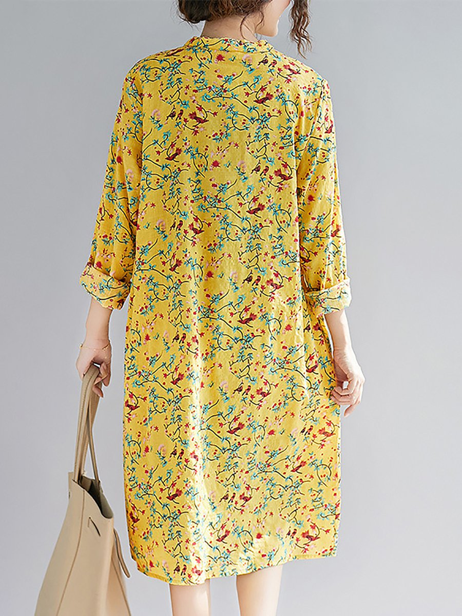 Yellow Floral-Print Co...