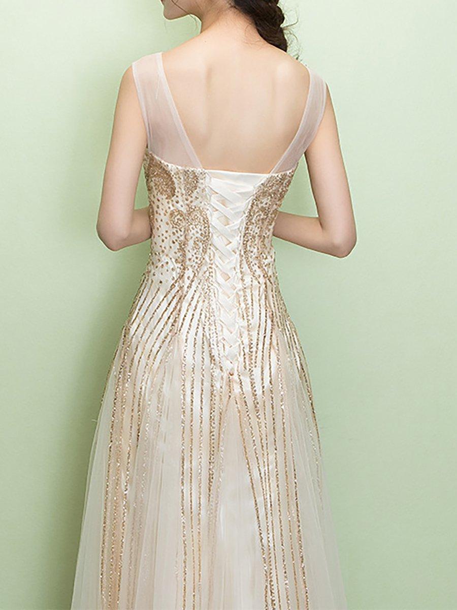 0e98b9477dbe Stylewe Summer Dresses Sundress Evening A-Line Crew Neck Shimmer ...