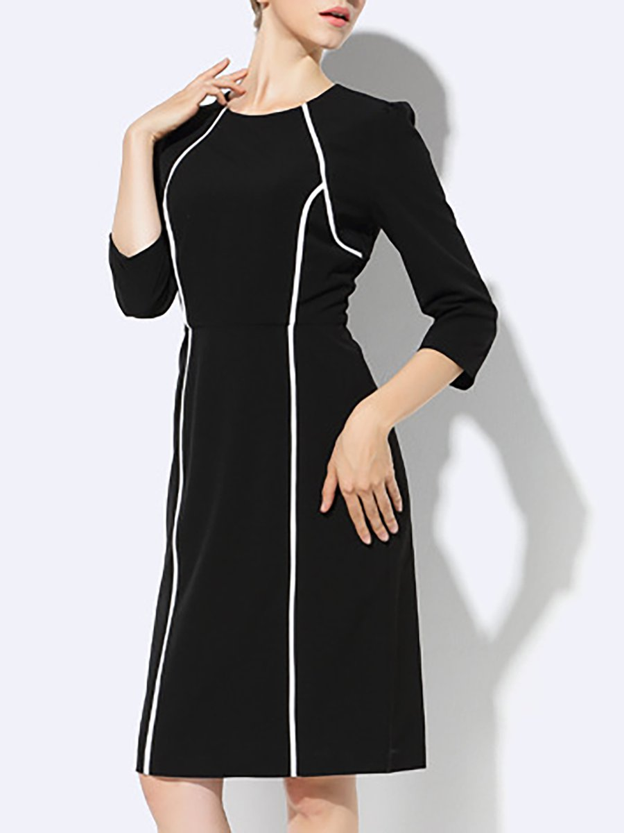 326515976b Stylewe Formal Dresses Casual Dresses Daily Sheath Crew Neck 3 4 ...