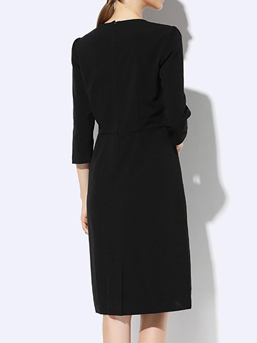 326515976b Stylewe Formal Dresses Casual Dresses Daily Sheath Crew Neck 3 4 ...