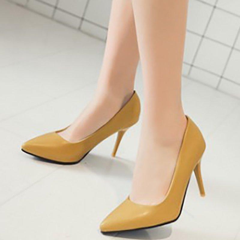 391a0734dffd Stylewe Women s Heels Elegant Brown Pointed Toe Heels