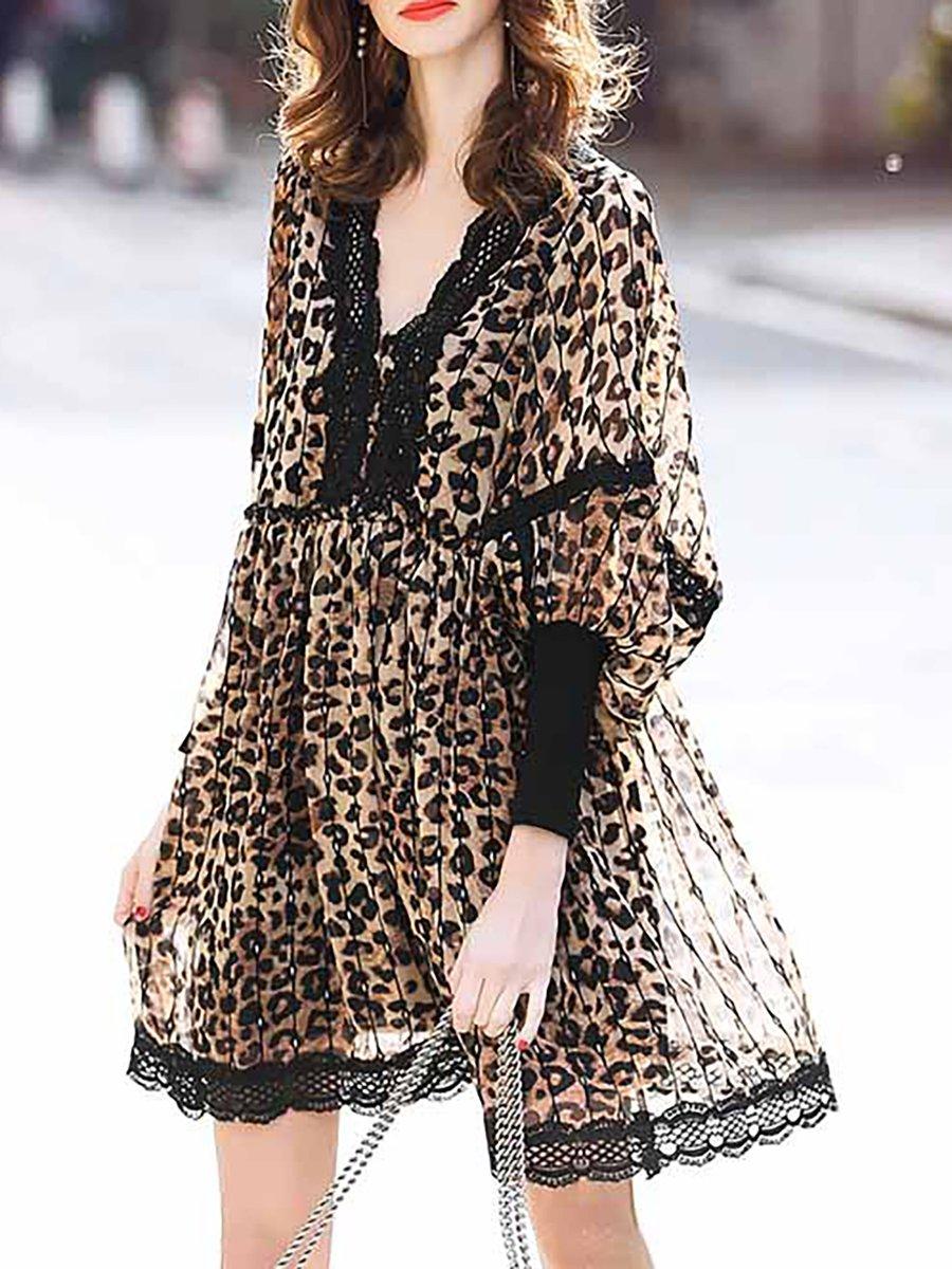 b99e267fab Stylewe Summer Dresses Chiffon Dresses Date A-Line V Neck Printed ...
