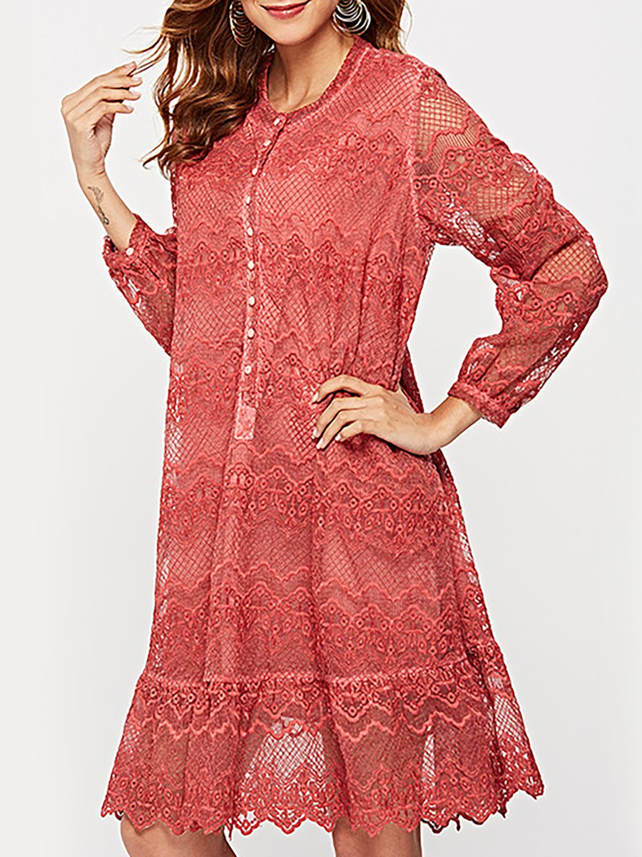 Stylewe Sundress Long Sleeve Sexy Dresses Date A Line Crew Neck Sexy