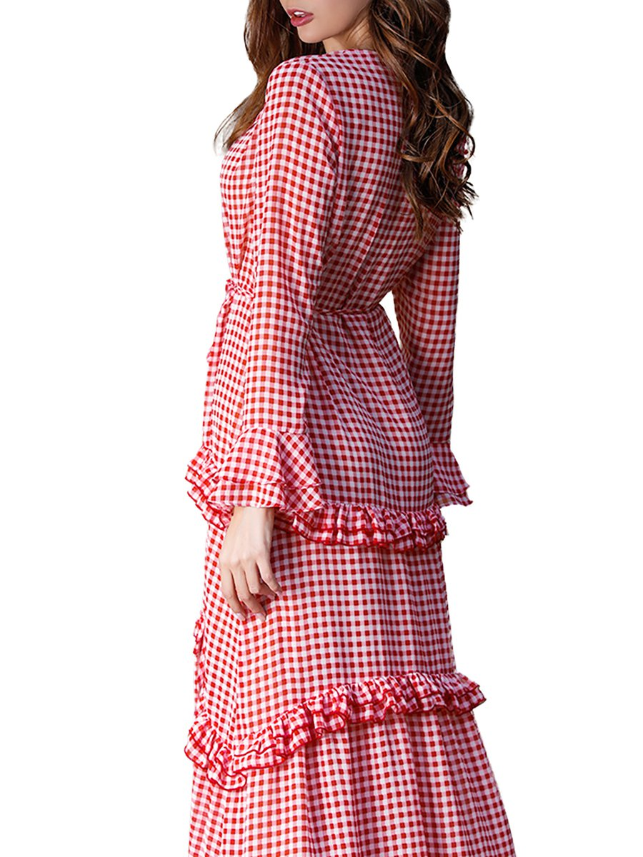 7183133319918 Stylewe Summer Dresses Sundress Date High Low Lapel Frill Sleeve ...