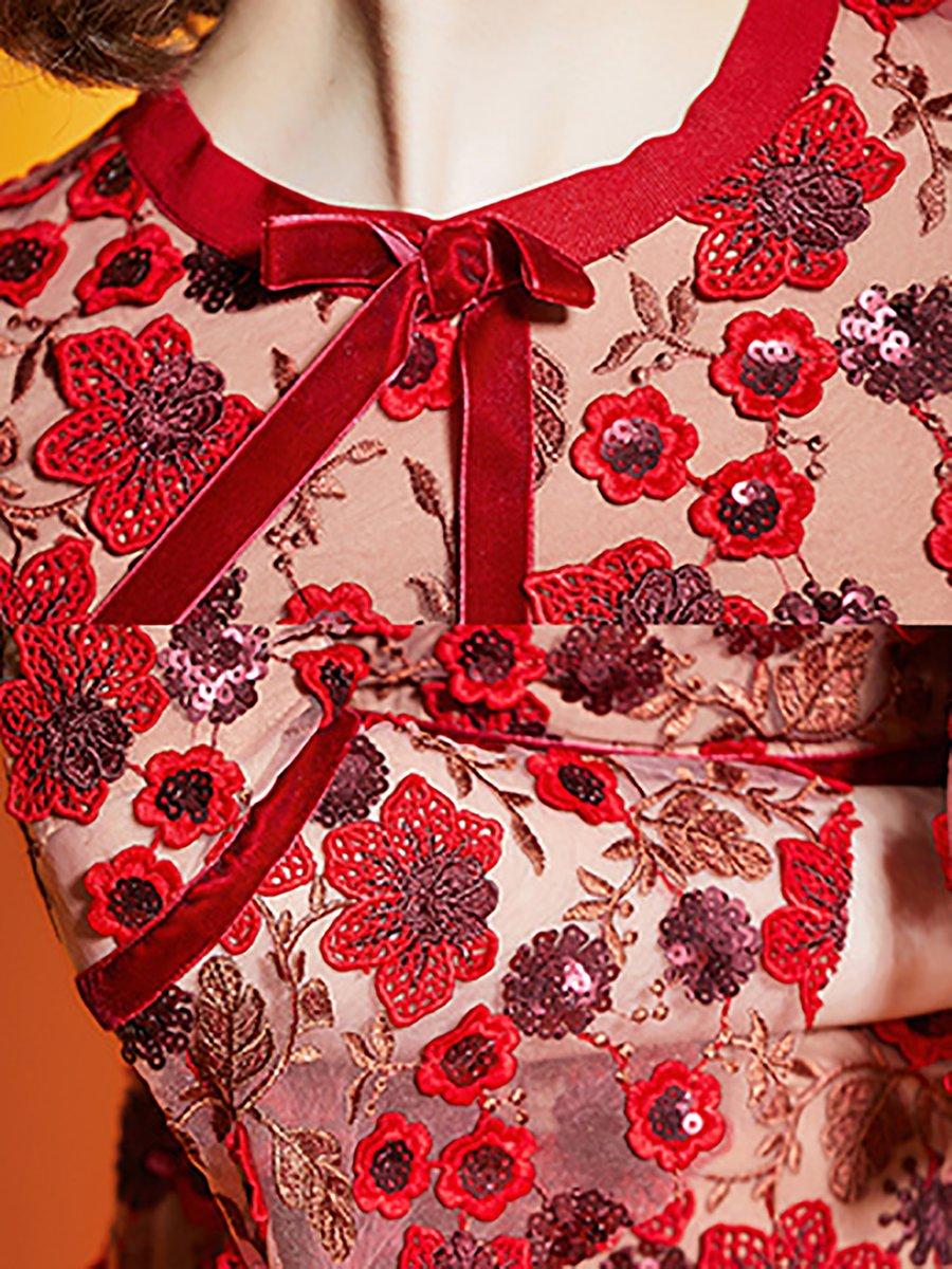 168ecdac9af Stylewe Party Dresses Sundress Party Sheath Crew Neck Boho Bell ...