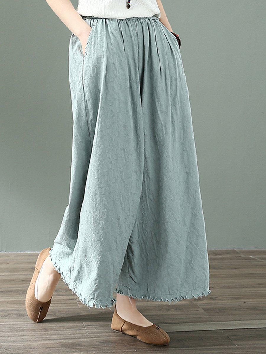 Summer Solid Pockets Dresses Plus Size Cocoon Sleeveless: Sweet Linen Bottoms