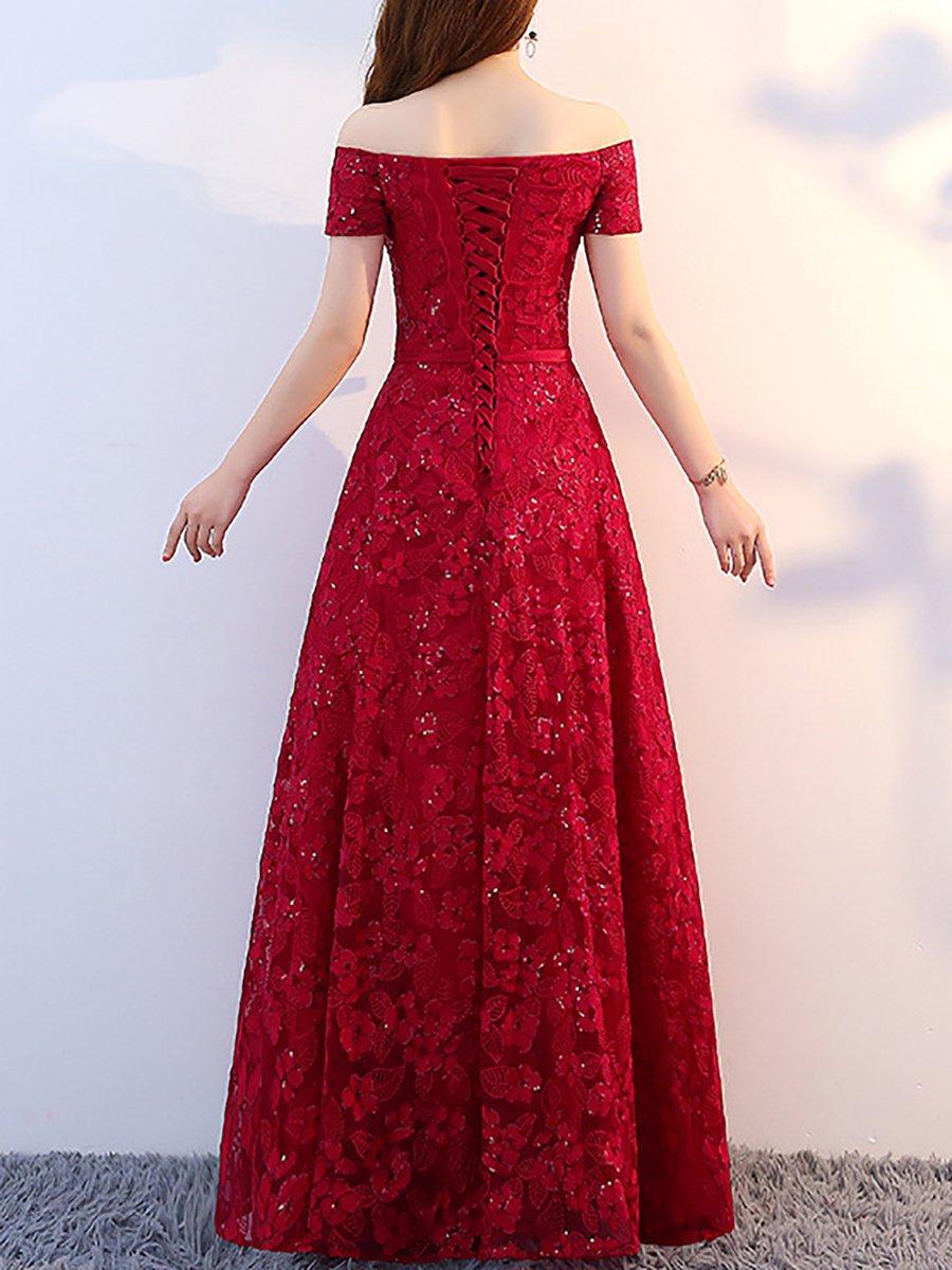 42a80011aed Stylewe Summer Dresses Floral Dresses Wedding A-Line Off Shoulder ...