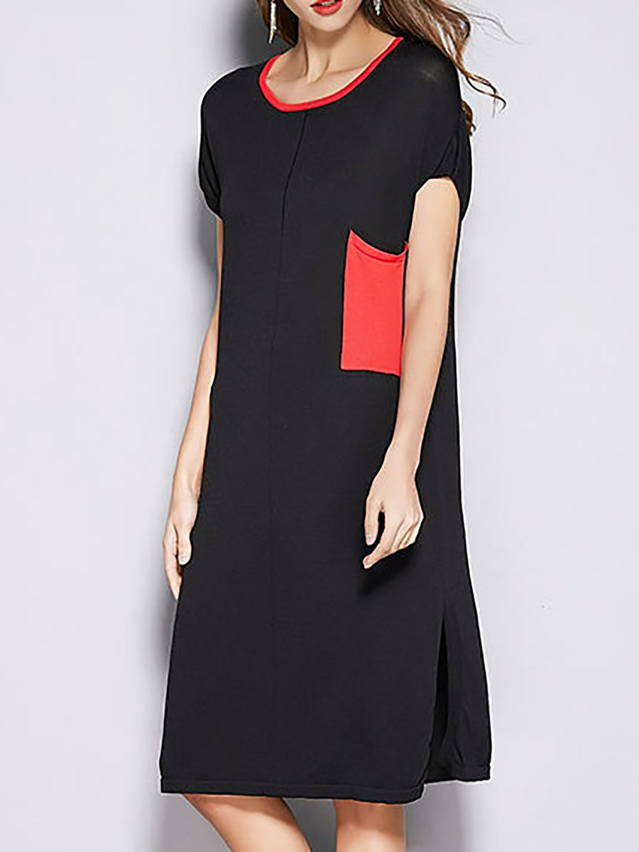 dcd53658143 LOOK BOOK. 44797. Quick Shop. 23488. Quick Shop. 23488. Quick Shop. 96215.  Quick Shop. Misslook Black Solid Knitted Crew Neck Shift Daily Midi Dress