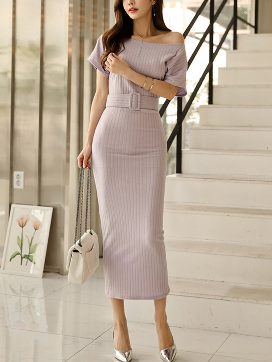 Day one shoulder maxi bodycon dress proper eclectic pinterest