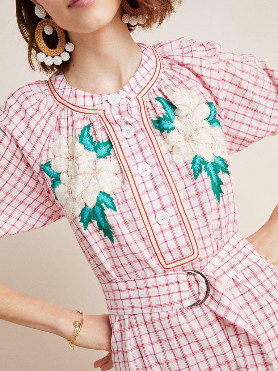 8bb7bd48d73 Stylewe Summer Dresses 1 Sundress Date A-Line Stand Collar Floral ...