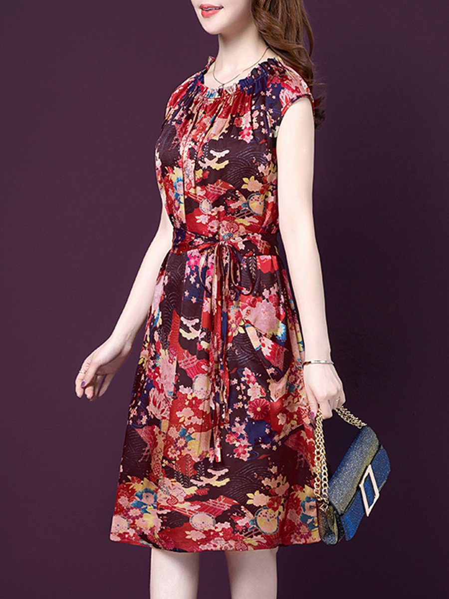 a97c6d82cb Stylewe Summer Dresses 1 Floral Dresses Daily A-Line Crew Neck ...