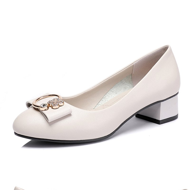380072621 Stylewe Heels Pointed Toe Off White Elegant Heels