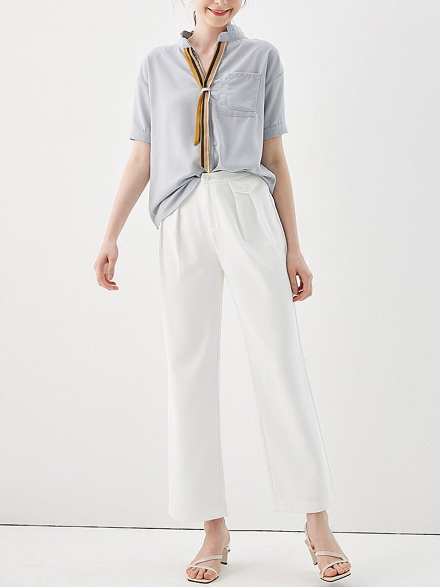 Summer Solid Pockets Dresses Plus Size Cocoon Sleeveless: Stylewe Summer Solid Shift Office & Career Work Blouse