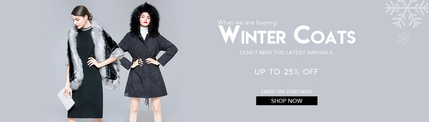 What we are buying:winter coats