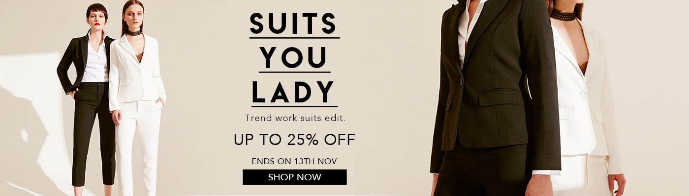 Suits you lady