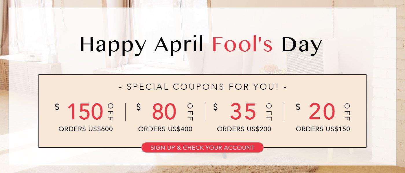 April Fool's Day coupons