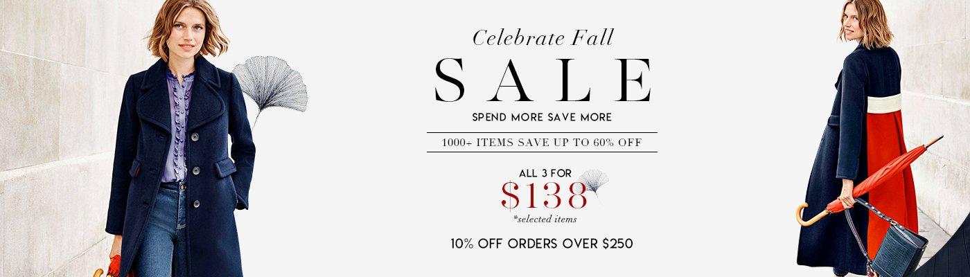 Celebrate Fall SALE