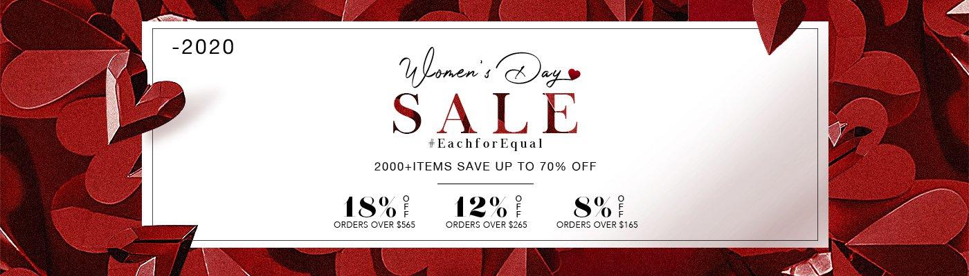 2020 Women's Day Sale