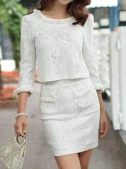 White Sweet Bodycon Mini Skirt
