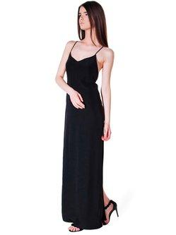 A-line Elegant Spaghetti Viscose Evening Dress