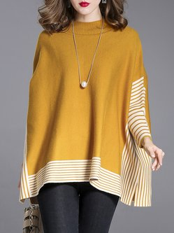 Knitted Batwing Casual Cashmere Sweater