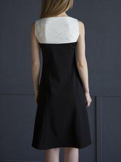 A-line Sleeveless Paneled Casual Midi Dress