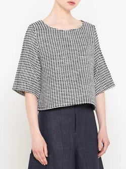 Black Casual Crew Neck Cropped Top