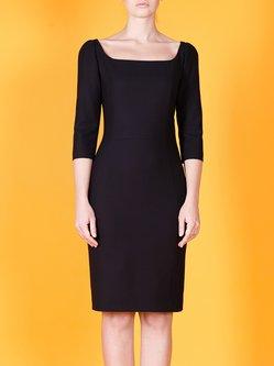 Wool Bodycon Elegant 3/4 Sleeve Midi Dress
