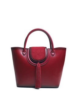 Medium Magnetic Casual Cowhide Leather Tote