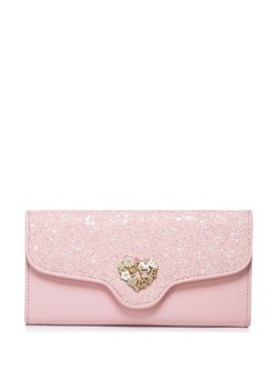 Pink Snap Sweet PU Wallet