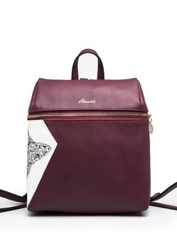 Small PU Zipper Casual Backpack