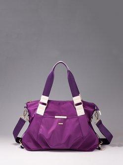 Purple Casual Zipper Nylon Satchel