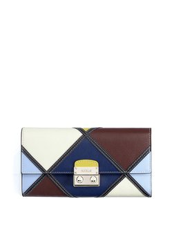 Push Lock Cowhide Leather Mini Casual Wallet