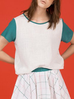 Plain Rayon Short Sleeve Casual T-Shirt