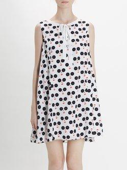 Multicolor Sweet Polka Dots A-line Mini Dress